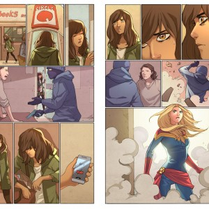 Ms. Marvel. Comic Art Project. ©2014 Marvel Inc