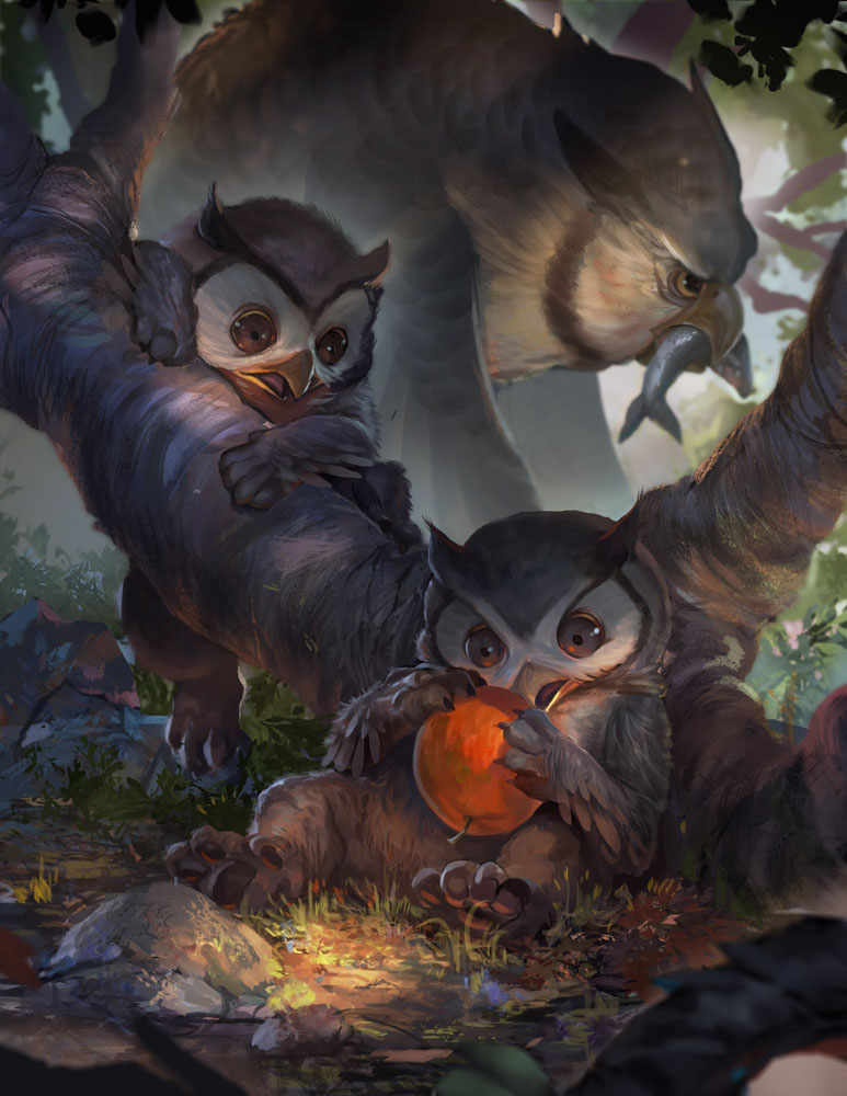 OwlBear. Baby Bestiary Project. ©2014 Ninth Realm Publishing